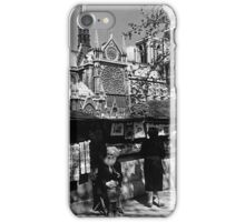 BW France Paris Notre Dame Cathedral booksellers 1970s iPhone Case/Skin