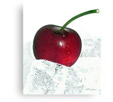 Ice cherry Canvas Print