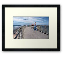 A Walk On The Jetty Framed Print