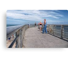 A Walk On The Jetty Canvas Print