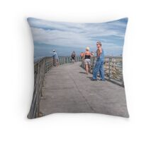 A Walk On The Jetty Throw Pillow