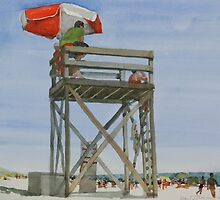 Lifeguard Tower, Katama Beach, Martha's Vineyard by Robert Bowden