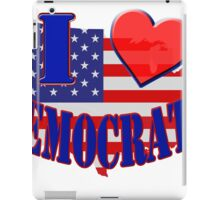 I Love Democrats iPad Case/Skin