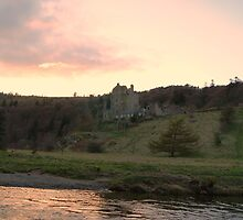 Dusk Reflection over Neidpath Castle by Sophie MacLeod