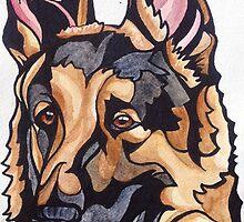 Dog Art #10: Harry the German Shepherd Dog by mellierosetest