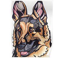 Dog Art #10: Harry the German Shepherd Dog Poster