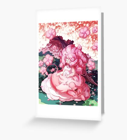 Rose and Lion Greeting Card