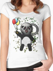 Pascal the Pot Smoking Space Panda Women's Fitted Scoop T-Shirt
