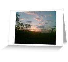 sunset over darwen moors lancashire  Greeting Card