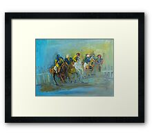 The Polo Game - Victoria Australia Framed Print