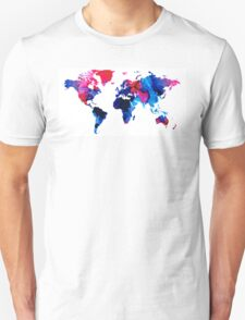 Map of The World 9 -Colorful Abstract Art T-Shirt