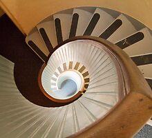 Lighthouse Spiral Stairs by Elizabeth Heath