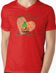 Yoshi Eated the Cookie Mens V-Neck T-Shirt