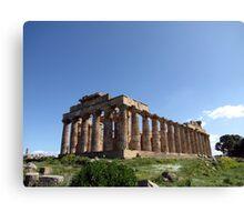 """Temple E"" - Archaeological Park of Selinunte, Sicily Canvas Print"