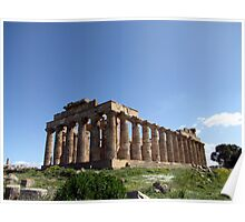 """""""Temple E"""" - Archaeological Park of Selinunte, Sicily Poster"""