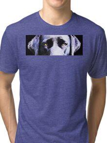 Black Labrador Retriever Dog Art - Lab Eyes Tri-blend T-Shirt