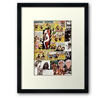 Collage with Distinction. Framed Print