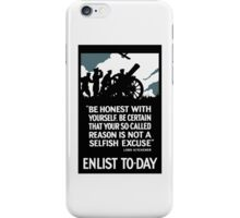 Enlist To-Day -- Lord Kitchener WWI iPhone Case/Skin