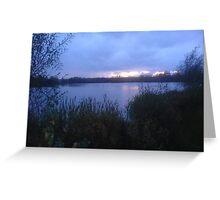 Sunset in 'Alibi' Greeting Card