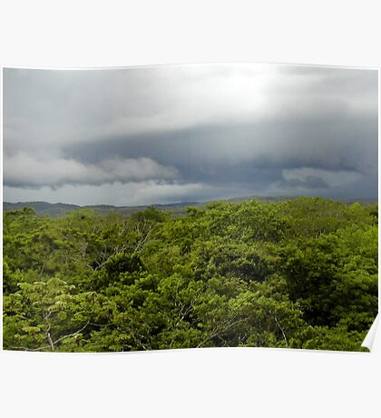 storm clouds over guatemala Poster