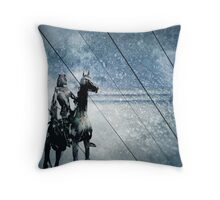 night rider Throw Pillow