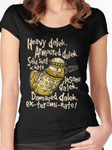 SPECIAL WEAPONS, SOLID SHELL OF HATE Women's Fitted Scoop T-Shirt