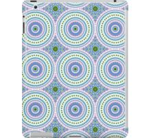 Blue, Pink and Green Abstract Medallion Design  iPad Case/Skin