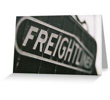 Freightliner Greeting Card