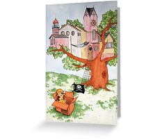 A Kids Mind is a Fantasy Castle Greeting Card