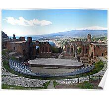 Greek Amphitheater (Teatro Greco) - Taormina, Sicily Poster