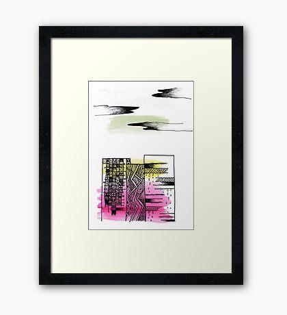 Coloured City Framed Print