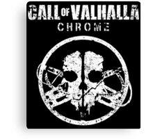 Call of Valhalla: Chrome Canvas Print