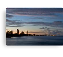 Surfer's Paradise lighting up Canvas Print