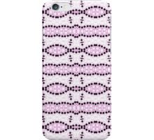 White, Pink and Black Abstract Design Pattern iPhone Case/Skin