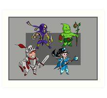 Magic vs. Zombies: The Heroes Art Print
