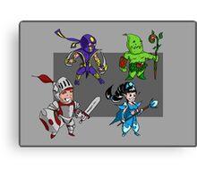 Magic vs. Zombies: The Heroes Canvas Print
