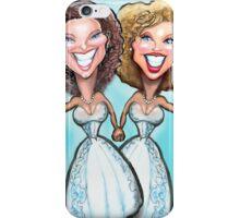 Lesbian Wedding Cake Dolls iPhone Case/Skin