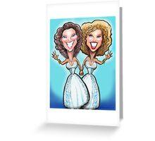 Lesbian Wedding Cake Dolls Greeting Card