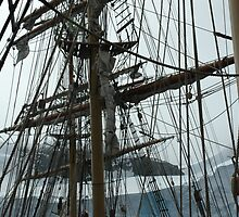 Tall ship maze of rigging by suebuz