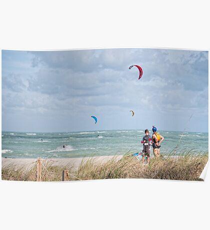 KITE SURFING (Ft, Pierce, Florida) Poster