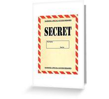 Secret File Greeting Card