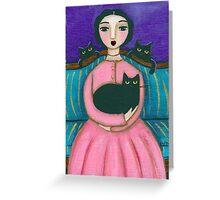 Anna's Black Cats Greeting Card