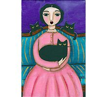 Anna's Black Cats Photographic Print