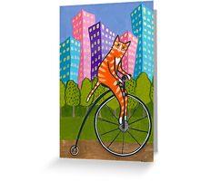 City Bike Ride Greeting Card