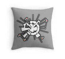 Alpha Moon Base Front Throw Pillow