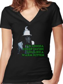 The Spirit of Jazz warns...Mighty Boosh Women's Fitted V-Neck T-Shirt