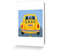 Mellow Yellow Bug Greeting Card