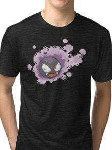 Gastly - pixel art Tri-blend T-Shirt