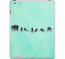 Birds on a Wire silhouettes iPad Case/Skin