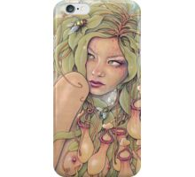 Nepenthes (Pitcher Plant Nymph) iPhone Case/Skin